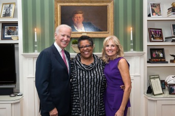 Wanda with Vice President and Dr. Biden