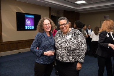 Wand and Sherri at the NBCC reception honors Rep. John Lewis (D-GA)